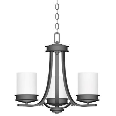 Abbey 3-Light Shaded Chandelier Finish: Polished Nickel