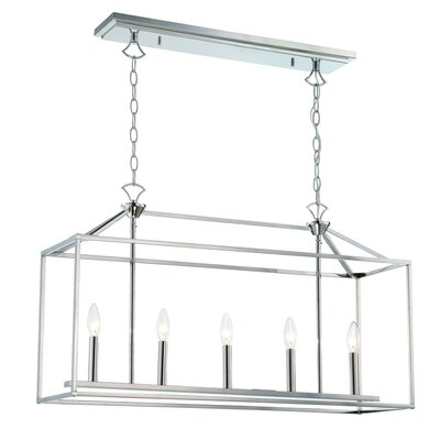 Kelston 5-Light Kitchen Island Pendant Finish: Polished Nickel