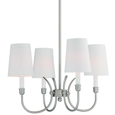 Potvin 4-Light Shaded Chandelier Finish: Brushed Nickel