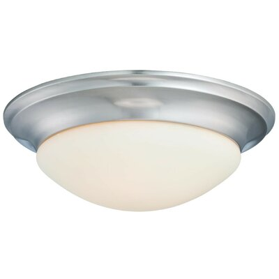 Pouliot 1-Light Flush Mount Finish: Brushed Nickel