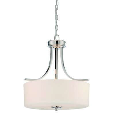 Abbey 3-Light Drum Pendant Finish: Brushed Nickel