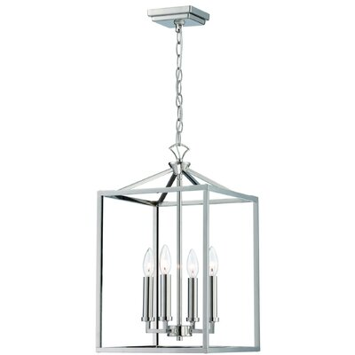 Kelson 4-Light Foyer Pendant Finish: Polished Nickel