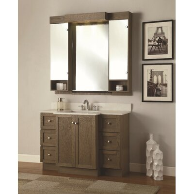 Cambridge 49 Single Bathroom Vanity Set with Mirror Base Finish: Espresso