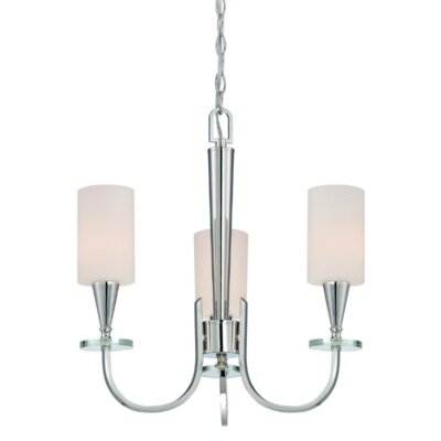 Charpentier 3-Light Shaded Chandelier Finish: Burnished Bronze