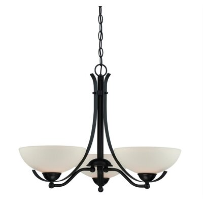 Bordeau 3-Light Shaded Chandelier