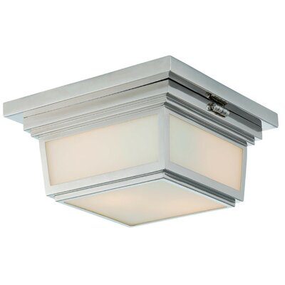 Massey 2-Light Flush Mount Finish: Brushed Nickel