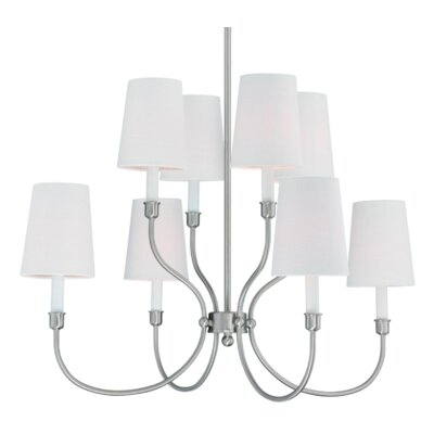 Potvin 8-Light Shaded Chandelier Finish: Brushed Nickel