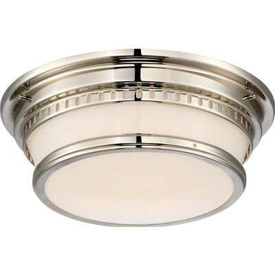 Chestnut Park 3-Light Flush Mount Finish: Brushed Nickel, Size: Large