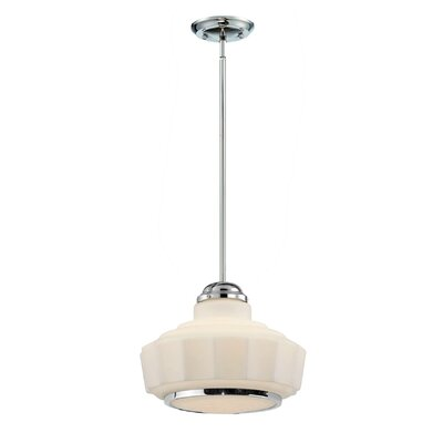 Esman 1-Light Shoolhouse Pendant Size: Large