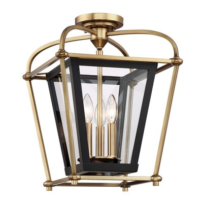 Baron 3-Light Foyer Pendant Finish: Aged Brass