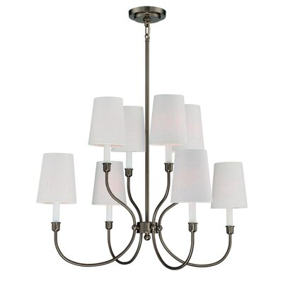 Potvin 8-Light Shaded Chandelier Finish: Burnished Bronze