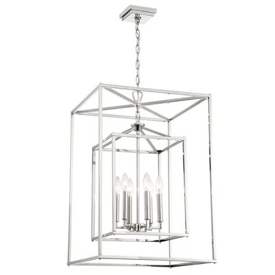 Halloway 6-Light Foyer Pendant Size: 29.75 H x 18 W x 18 D