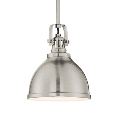 Wagnon 1-Light Bowl Pendant Finish: Brushed Nickel