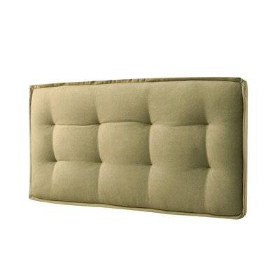 Walther Tufted Upholstered Panel Headboard Size: Twin, Upholstery: Faded Yellow