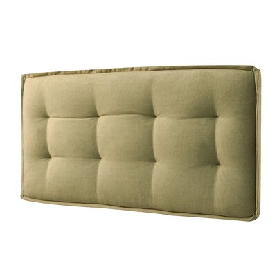 Leo Upholstered Panel Headboard Size: Twin, Color: Faded Yellow
