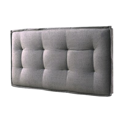 Leo Upholstered Panel Headboard Size: Full, Color: Faded Grey