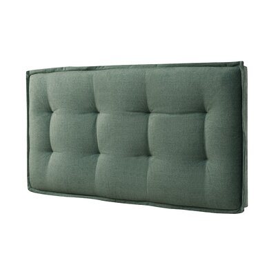 Leo Upholstered Panel Headboard Size: Full, Color: Faded Green