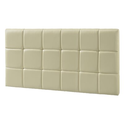Upholstered Panel Headboard Upholstery: Cream, Size: Queen