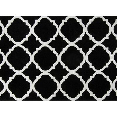 Moroccan Trellis Black/White Area Rug Rug Size: 8 x 10