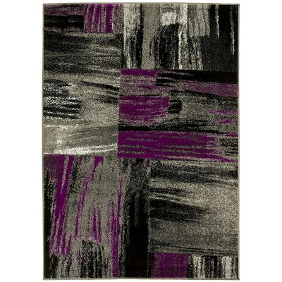 Purple/Gray Area Rug Rug Size: 5' x 7'