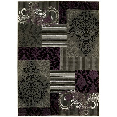 Abstract Purple/Gray Area Rug Rug Size: 5 x 7