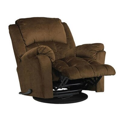 Manual Swivel Glider Recliner Upholstery: Walnut