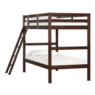 Wooden Twin over Twin Bunk Bed Color: Espresso