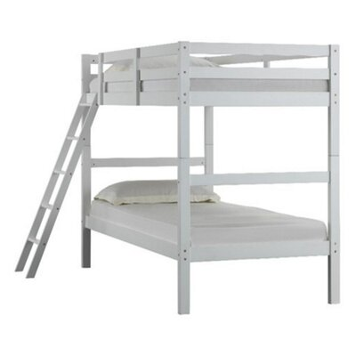 Wooden Twin Bunk Bed Finish: White