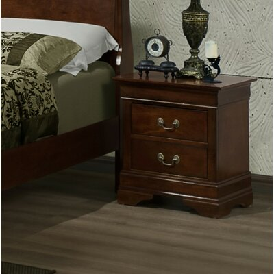 Renaissance 2 Drawer Nightstand Color: Cherry