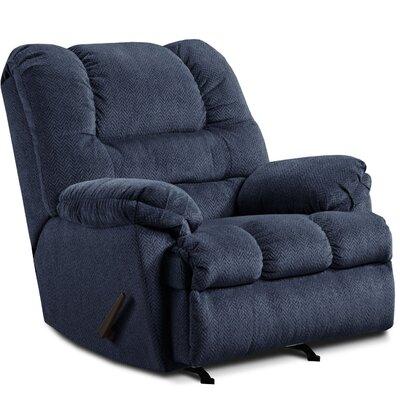 Rocker Recliner Upholstery: Cobalt Blue