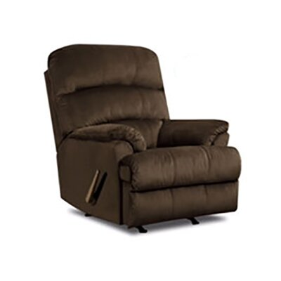 Rocker Recliner Upholstery: Brown
