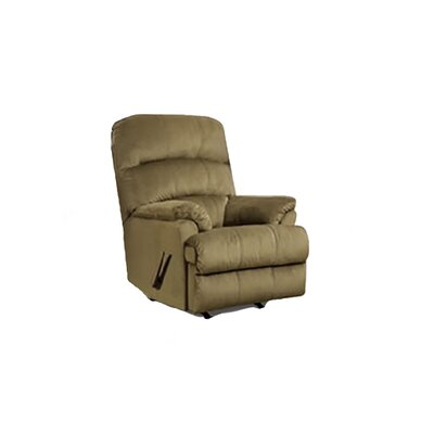 Manual Rocker Recliner Upholstery: Green