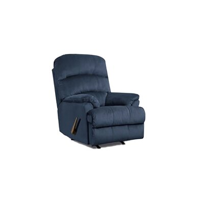 Manual Rocker Recliner Upholstery: Blue