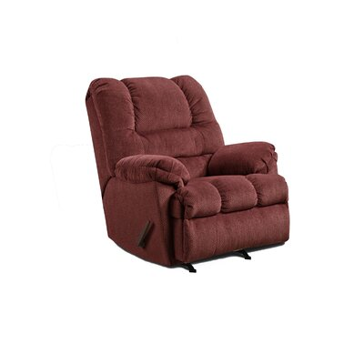 Manual Rocker Recliner Upholstery: Wine