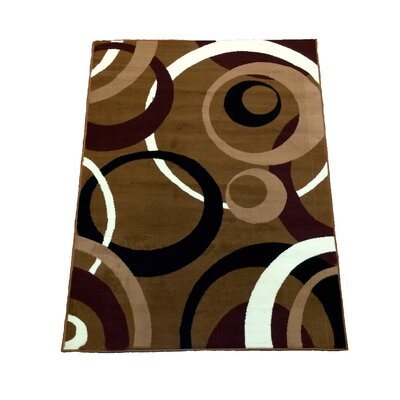 Abstract Brown Area Rug Rug Size: 5 x 7