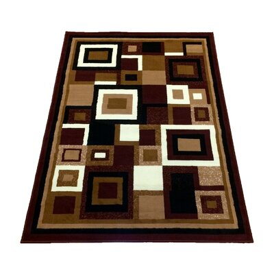 Geometric Brown Area Rug Rug Size: 8 x 10