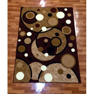 Geometric Brown/Red Area Rug Rug Size: 5 x 7