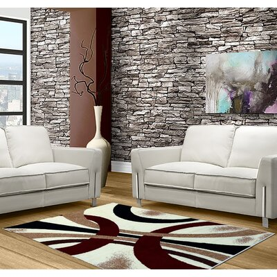 Abstract Beige Area Rug Rug Size: 5 x 7