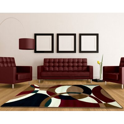 Contemporary Brown Area Rug Rug Size: 5 x 7