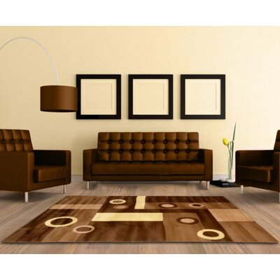 Geometric Brown Area Rug Rug Size: 5 x 8