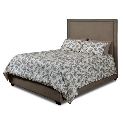 Dustin Upholstered Panel Bed Size: King, Color: Sand