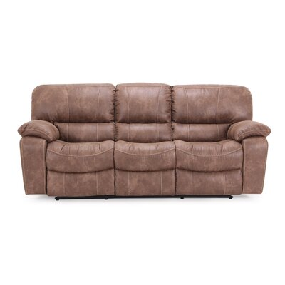 Dual Reclining Sofa Upholstery: Brown