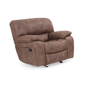 Manual Recliner Upholstery: Brown