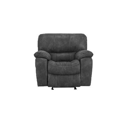 Manual Recliner Upholstery: Gray