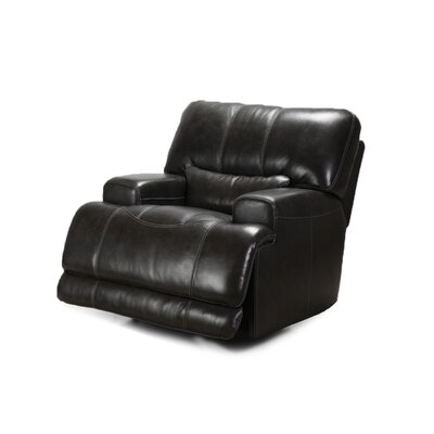 Leather Power Recliner Upholstery: Charcoal
