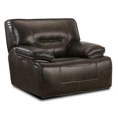 Leather Power Recliner Upholstery: Coffee