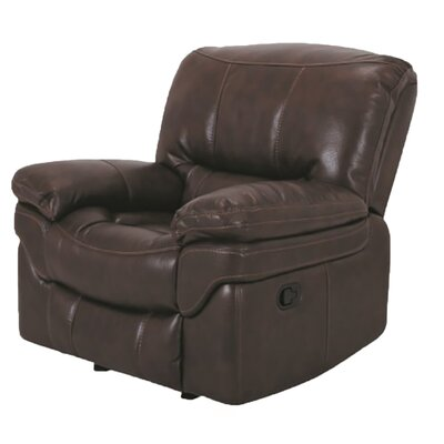 Manual Glider Recliner Upholstery: Brown