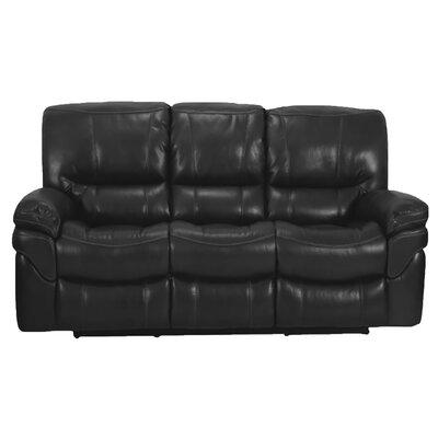 Dual Reclining Sofa Upholstery: Black