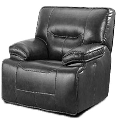 Power Leather Recliner Upholstery: Charcoal