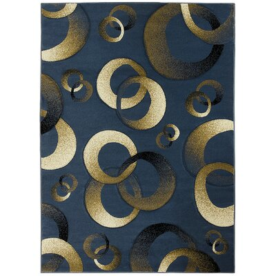 Aquinnah Hand-Carved Blue/Beige Area Rug